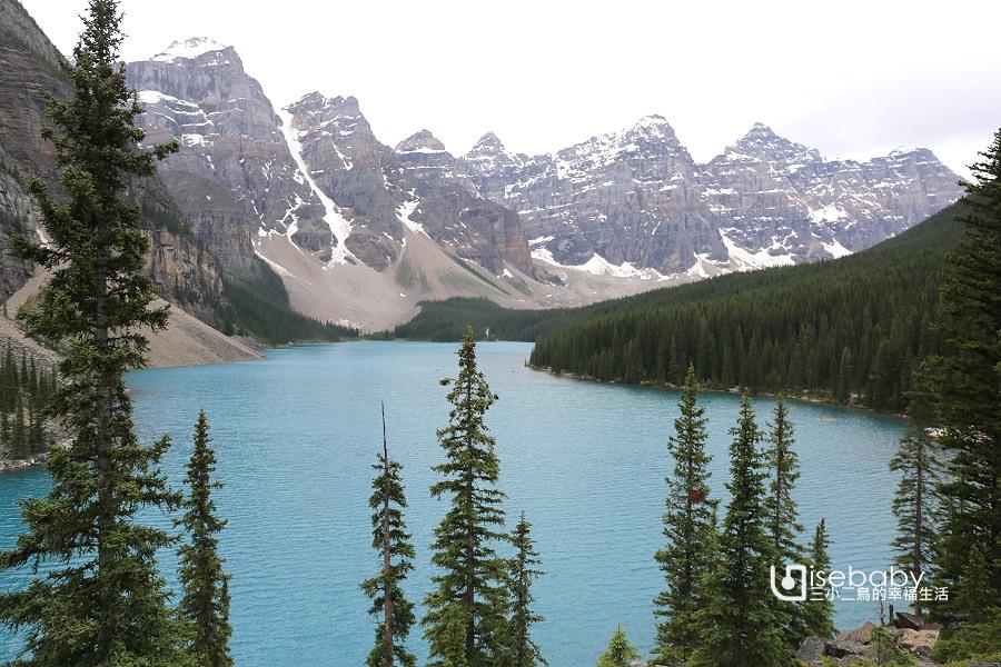 加拿大|Lake Moraine夢蓮湖。群山環繞的壯麗湖景
