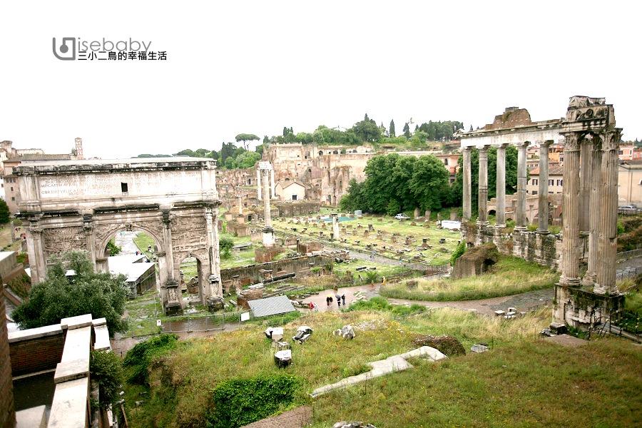 義大利 Foro Romano古羅馬廣場。古羅馬人公共生活的中心