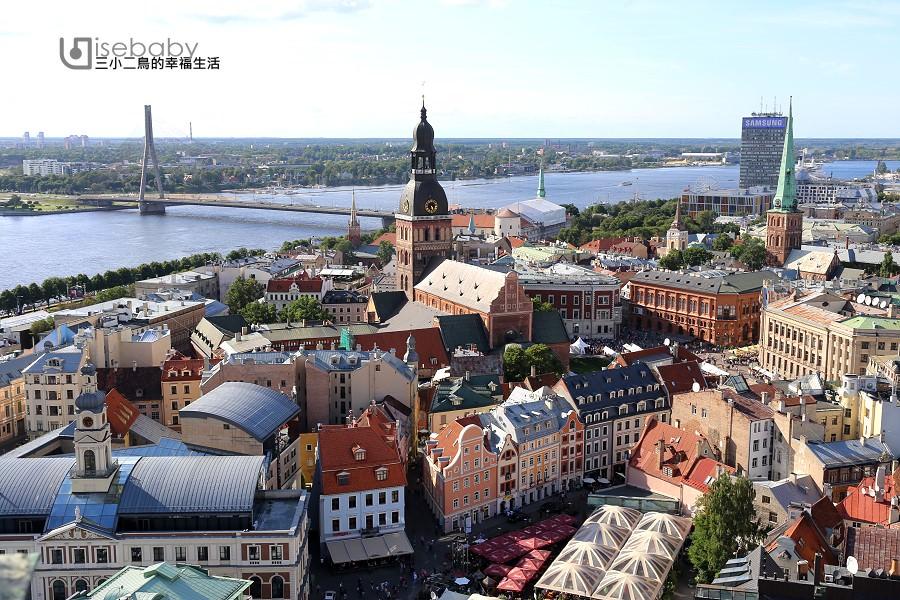 拉脫維亞 | 俯瞰首都里加最美天際線。聖彼得教堂