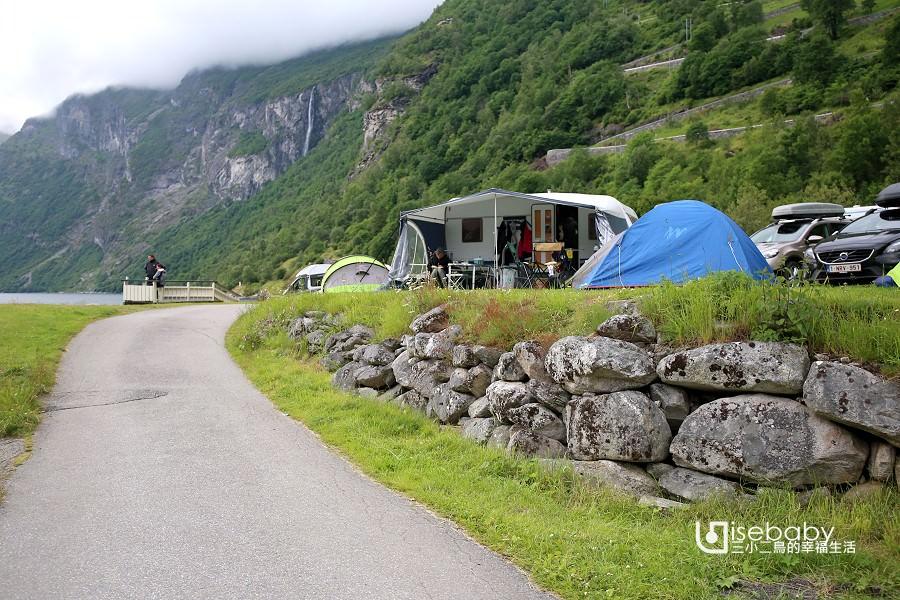 挪威 | 世界級峽灣露營第一排.Geirangerfjorden Feriesenter