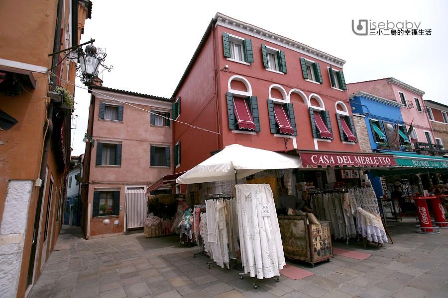 義大利   威尼斯夢幻蕾絲工藝小島。Burano蕾絲島、彩色島