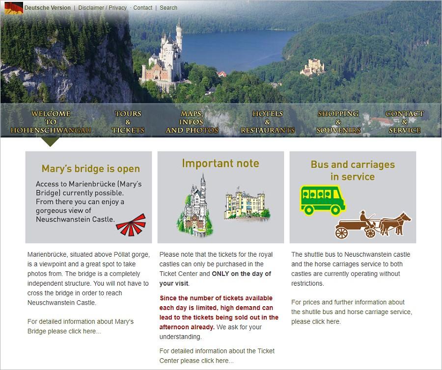 德國 新天鵝堡。行前網路預約攻略與票價資訊