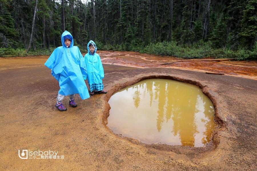 加拿大   庫特尼國家公園拍照景點。Paints Pots顏料池