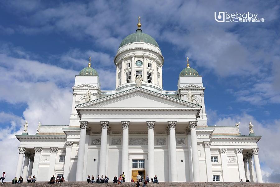 芬蘭 | 赫爾辛基白教堂代表地標。赫爾辛基大教堂
