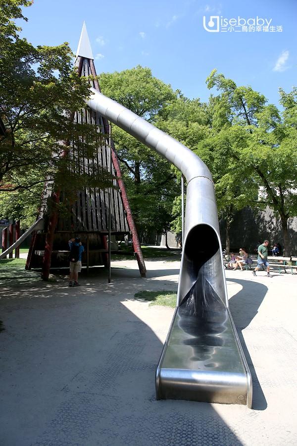 歐洲特色公園。薩爾斯堡兒童遊樂場.3層樓節拍器造型溜滑梯超刺激!