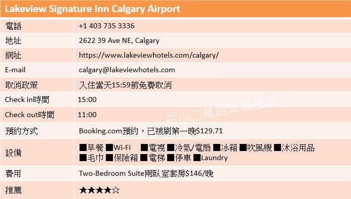 加拿大   卡加利機場YYC推薦住宿。Lakeview Signature Inn Calgary Airport