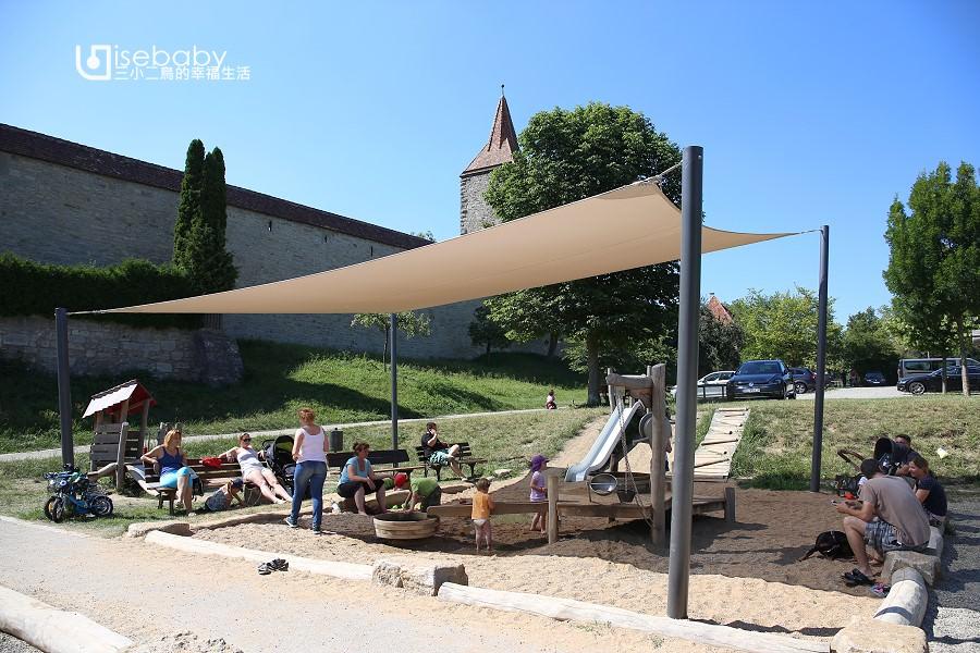 歐洲特色公園。德國羅騰堡Spielplatz Hornburgweg兒童遊戲場