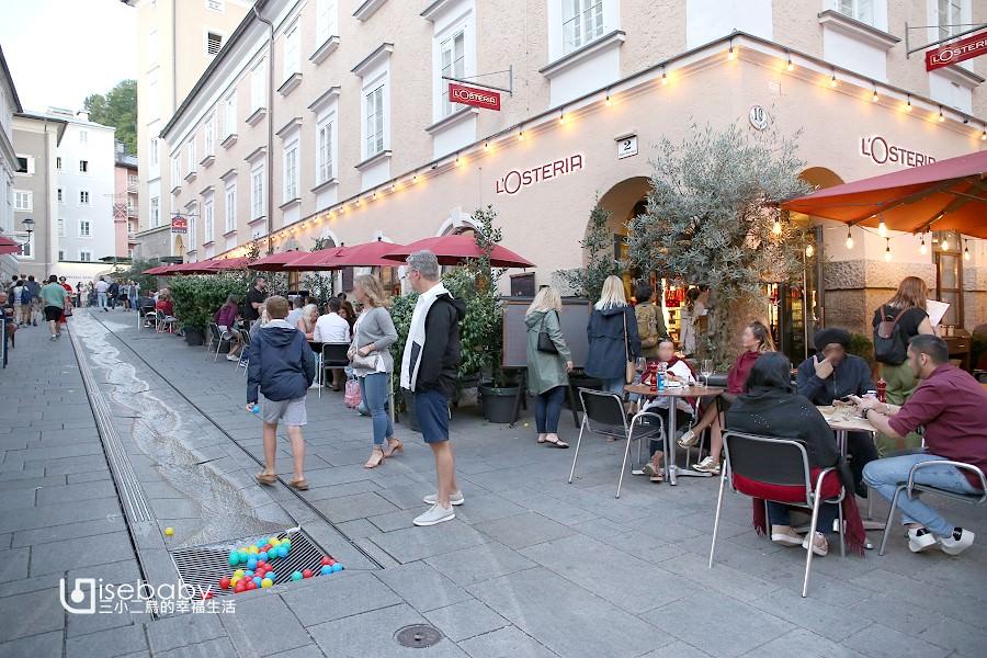 薩爾斯堡推薦美食。連鎖義式餐廳L'Osteria比薩必點