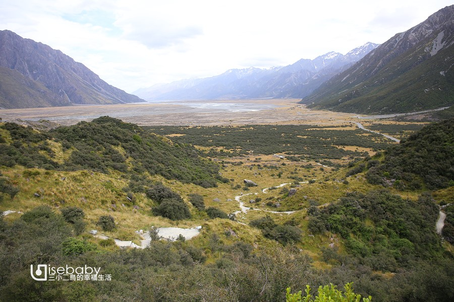 紐西蘭南島健行步道推薦 庫克山Blue Lakes and Tasman Glacier walks步道