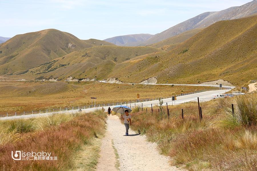 紐西蘭南島8號公路景觀拍照點Lindis Pass Viewpoint