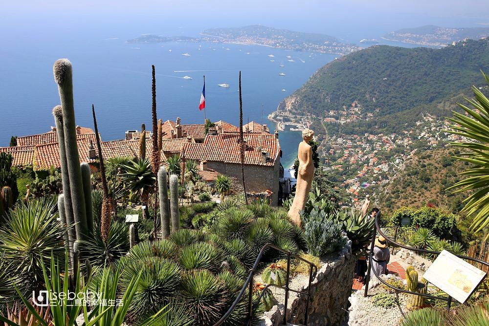 法國自由行攻略 南法Eze埃茲自助懶人包。蔚藍海岸的鷹巢村
