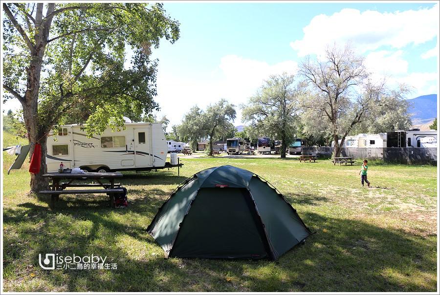 加拿大|露營。Kamloops RV Park.寬敞舒適的Tent搭帳Kamloops中繼營地