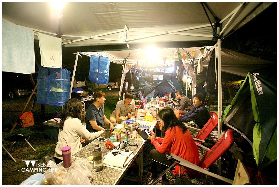 露營 | 新竹尖石。油羅溪森林花園.紅酒燉羊膝露營大餐