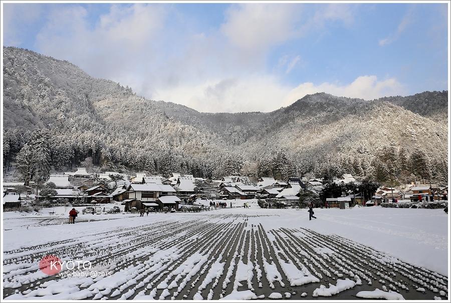 京都 | 日本第三合掌村。美山茅葺之里かやぶきの里「雪燈廊」