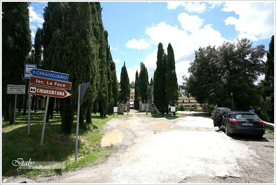 義大利|景點。尋找托斯卡尼La Foce絲柏之路