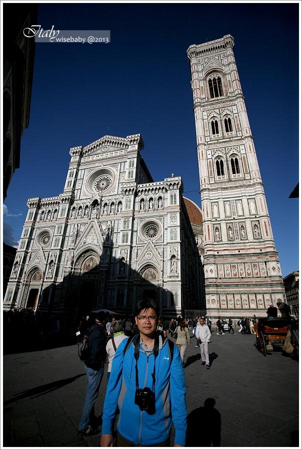 [義大利親子自助] 景點-Firenze::托斯卡尼豔陽下登喬托鐘塔Campanile di Giotto