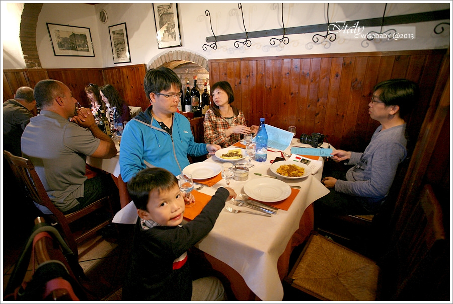 [義大利親子自助] 美食-Siena::西恩那必吃美食Antica Trattoria Papei
