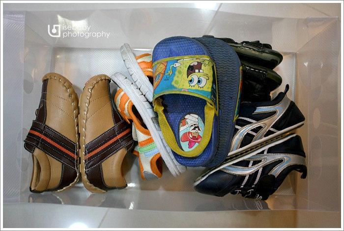 [窩] 鞋櫃改造。透明鞋盒防塵堆疊多功能收納法
