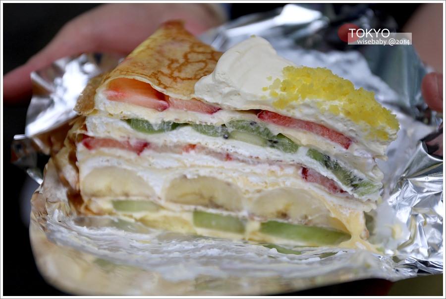 [東京自助] 食記-必吃甜點.水果千層蛋糕@HARBS