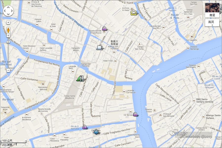 義大利 威尼斯散步地圖.行程景點攻略懶人包
