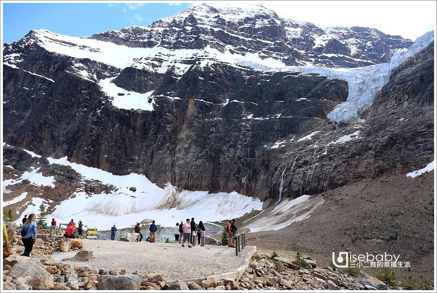 加拿大|健行。Path of the Glacier天使冰河步道.步行20分鐘近距離觀賞冰河景觀