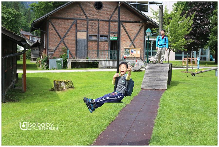 歐洲特色公園 奧地利哈修塔特Badestrand Hallstatt湖畔兒童親水公園