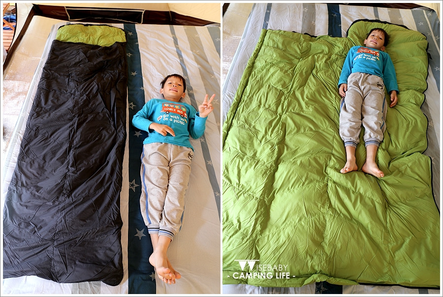 露營裝備 | 開箱。QTACE羽絨睡袋T1-6001黑綠