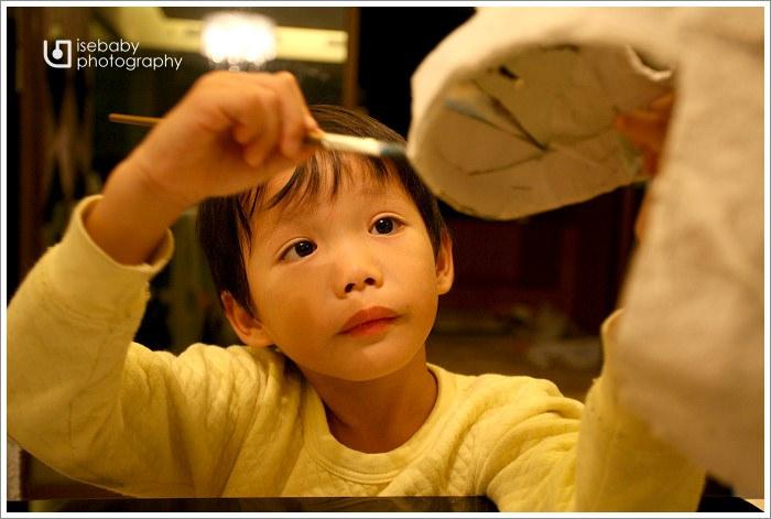 [兒子] Ryan.大班::萬聖節活動自製面具