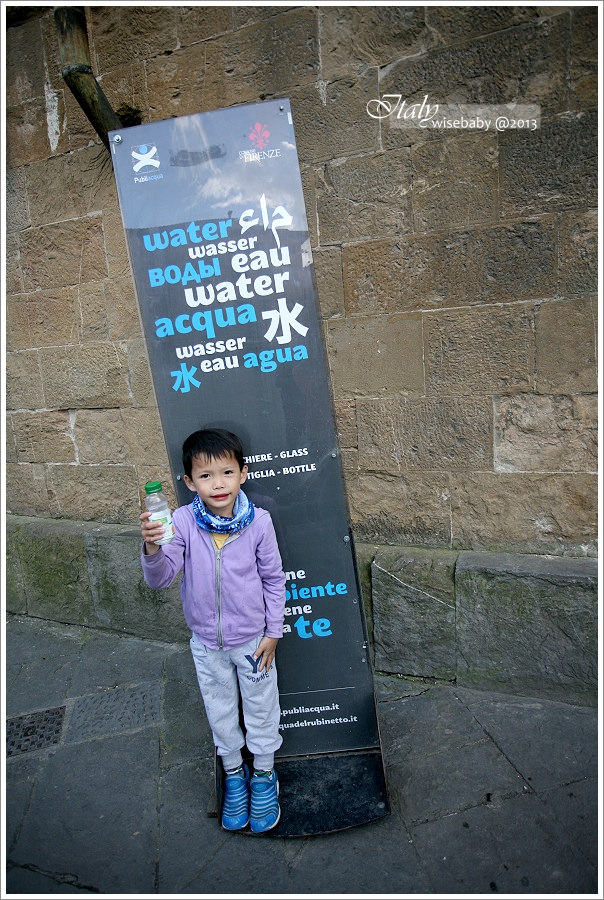 [義大利親子自助] 分享-Firenze::免費好喝氣泡水的裝水位置