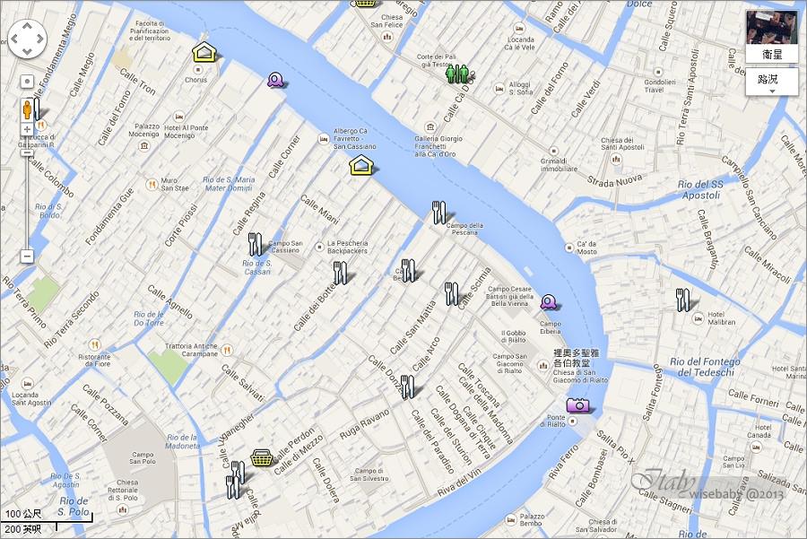 [義大利親子自助] 景點-Venezia::威尼斯散步地圖(二).雷雅托橋、魚市場